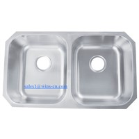 50/50 Stainless Steel Double Bowl Kitchen Sink