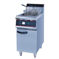 Floor Type Electric Fryer with Cabinet All S/S Body 30 Liter Electric Fryer FMX-WE279A