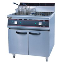 Electric Fryer with Cabinet All Stainless Steel Body 2 Tank 4 Basket Electric Fryer FMX-WE279B