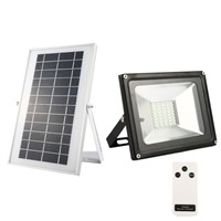 20W Solar Flood Lights 40 LEDs White Light Waterproof IP65 Rechargeable Energy Lights with Remote Control
