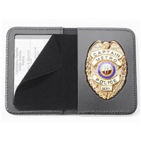 Leather Badge Holder Wallet/ ID Card Holder/ Cases & Holders