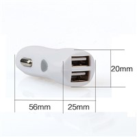 12v DC Power Adapter White 2 Port USB Car Charger from Aotmanfactory