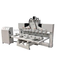 8 Spindle 10 Spindle Wood Router 4 Axis Turning Head CNC Carving Machine