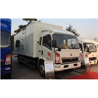 China Brand Sinotruk Howo 4X2 Light Duty Mini Van Cargo Truck