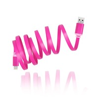 Colorful Data USB Cell Phone Cable Flat Mirco USB Cable from Aotman