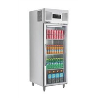 Commercial Upright Refrigerator Glass Door Stainless Steel Body Upright Refrigerator FMX-BC362A