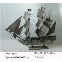 Gifts & Decor Nautical Primitive Wooden Model Ship Handcrafts Model Boat