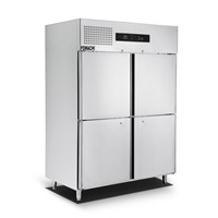 Upright Freezer 4 Gates Door All Stainless Steel Body Deep Freezer FMX-BC363D