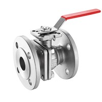 Flanged Ball Valve with Manual Pneumatic Motorized Actuator Operation