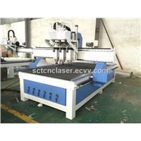 Vacuum Table Pneumatic Auto Tool Changer CNC Machine with Three Heads