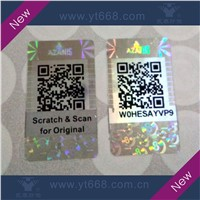 2D Barcode Sticker, Scratch off Security Label