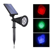 4 LED RGB Solar Motion Sensor Lights Outdoor