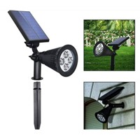 Solar Power 4 LEDs Outdoor Sensor Garden Yard Flood Lawn Lights Solar Power Garden Decorative Lights