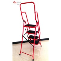 4 Step Ladder with Side Rail Safety Ladders DIY Red Ladder Steps