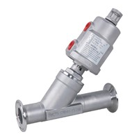 Tri-Clamp Ends Pneumatic Angle Seat Valve with Stainless Steel Actuator