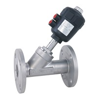Flanged Pneumatic Angle Seat Valve with PPS Actuator