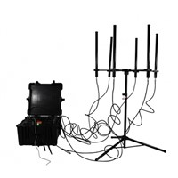 160W 4-8bands High Power Drone Jammer Jammer up to 1000m
