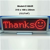 16x64 Desktop Programmable LED Moving Display Scrolling Message Display