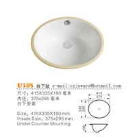 China Ceramic Wash Basins Manufacturers, China Bathroom Sinks Suppliers U305