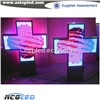 Waterproof Two Sides P10 RGB Full Color Programmable Scrolling Text Wiresless RF Communication LED Cross Phamacy Sign