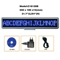 Factory Price Spanish Support Hiqh Quality 22''Lx4''H LED Scrolling Message Sign