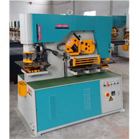 Wondely Hydraulic Iron Steelworker 90Ton IW-90L Metal Sheet Plate Punching Shearing Machine