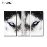 Canvas Wall Art Home Decor 3 Piece Oil Painting of Wolf Digital Canvas Prints Pictures