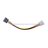 Computer Cable Wire Harness with SATA Connector To 4pins Power Housing
