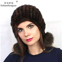 Factory Outlet Real Mink Fur Women Cap Ear Cover Cap