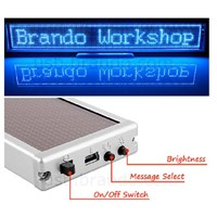SMD Indoor Use P2.5 Blue Color 13.3''X2'' Scrolling Message LED Signs
