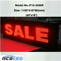 P10 Semi-Outdoor/Outdoor P10 Red Color Moving/Scrolling/Running Message LED Display Signs