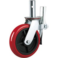 Scaffolding Parts Caster Wheel PU Plastic 6 Inches with Brake Wheels