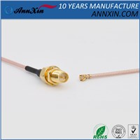 RG178 Cable Assembly - RP-SMA-F & U. FL IPEX MHF Connectors - 6inches