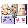 Newest Neon Color Eye Rock Festival Rhinestone Diamond Sticker for Party