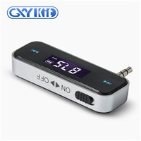 GXYKIT Car Audio FM Transmitter F1 Car Music Transmitter with Built-in Lithium Battery