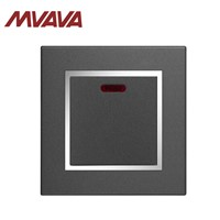 MVAVA 1 Gang Push Button Electrical Wall Switch with Neon Indicator