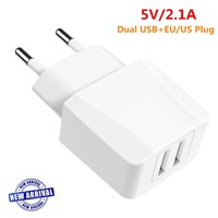 New Arrival 5V 2.1A Dual USB Wall Charger AC Mobile Phone Charger
