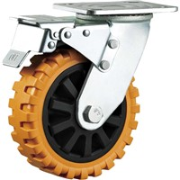 Heavy Duty Caster Wheel Swivel with Brake 6 Inches Material Handling Equipment Wheels