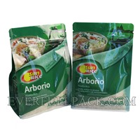 High Quality Hot Sale Laminated Material Gravure Printing Standard Zipper Rice Flat Bottom Bag