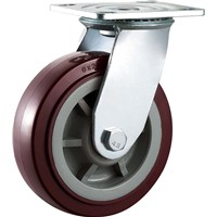 Heavy Duty Caster Wheel Swivel 5 Inch PU Plastic Ball Bearing Hand Carts Trolleys Wheels