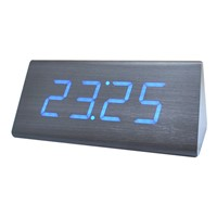 Creative Wooden Silent Nightlight Student Bedroom LED Alarm Clock
