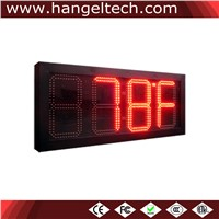 10 Inches Digit Outdoor Water Proof Large LED Temperature Display Panel