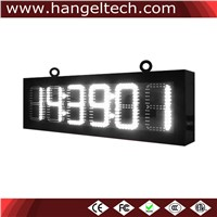 12 Inches Large Digit Outdoor LED Time & Temperature Sign