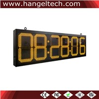 10 Inches Digit Outdoor Large LED Time Temperature Clock Display