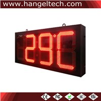 Outdoor Water Proof 16 Inches Digital Wall Clock Large Temperature Display