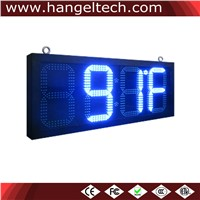 12 Inches Digit Outdoor LED Time & Temperature Display Sign