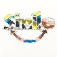 2017 Smile Hotfix Crystal Rhinestone Patch 15.8X10cm Beaded Applique for T Shirt (TP-Smile)