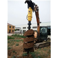 Heavy Duty Earthmoving Attachment Hydraulic Earth Auger Earth Drill for Hole Digging Auger Drive Unit