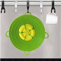 Cookware Lids 13 Inch Useful Multi-Function Silicone Spill Stopper Lid Kitchen Utensils Pan Cooking Tools Flower Cookwar
