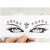 Eco Friendly Tattoo Stickers Rhinestone Face Decorative Eye Crystal Stickers (TS-514 Eye Sticker)